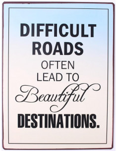 Difficult roads often lead...