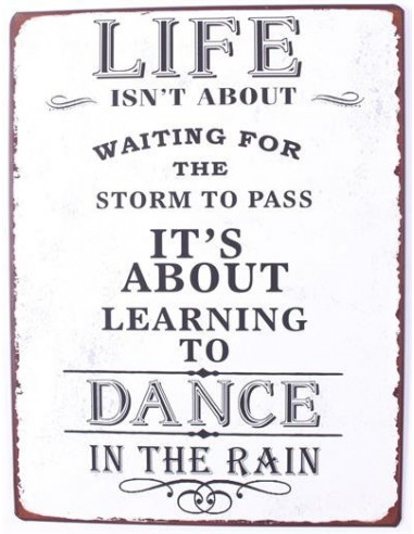 Life isnt about waiting for the storm...
