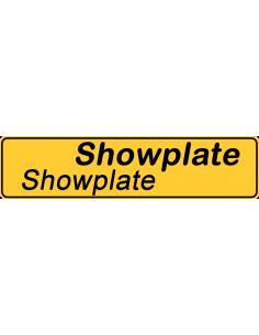 Navneskilt - Showplate