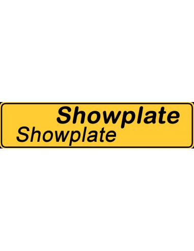 81432053 Navneskilt Showplate den kan du designe selv som du vil, det bliver en god  reklame