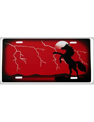 Stejlende hest lyn rødt eller blåt...