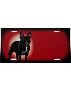 Bulldog rødt Skilt med folie