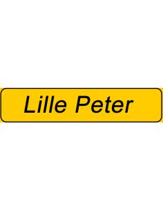 Plastskilt med navn