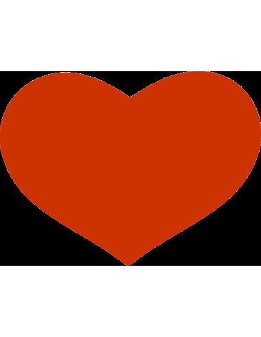 Kobberfarvet hjerte