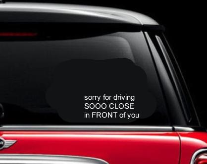 Sjove skilte til bilen